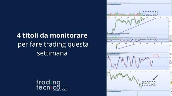 Titoli da monitorare per fare trading
